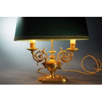 Bouillotte table lamp with Gilded bronze