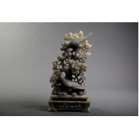 Stone (soapstone), hand carved. China, early 20th century.